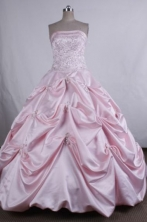 Pretty Ball gown Strapless Floor-Length Quinceanera Dresses LZ42491