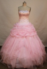 Pretty Ball gown Strapless Floor-length Quinceanera Dresses Style FA-C-010