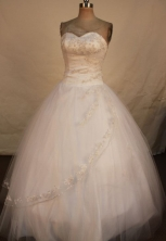 Simple Ball Gown Sweetheart Floor-length Quinceanera Dresses Appliques Style FA-Z-0333