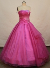Simple Ball gown Strapless Floor-length Quinceanera Dresses Style FA-C-021