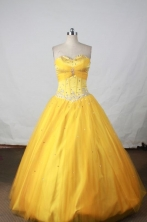 Simple Ball gown Sweetheart-neck Floor-length Quinceanera Dresses Style FA-W-382