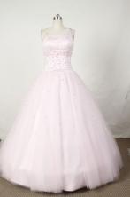 Sweet Ball Gown One Shoulder Floor-length Organza Quinceanera dress TD2474