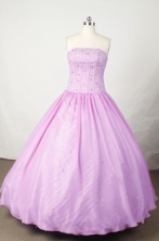 Sweet Ball Gown Strapless Floor-length Lavender Beading Quinceanera dress Style FA-L-055