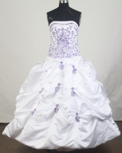 Unique Ball Gown Strapless Floor-Length Quinceanera Dresses Style JP42634