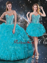 2016 Hot Sale Detachable Sweetheart Sweet 16 Dresses with Beading and Ruffles QDDTA109001FOR