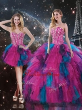 2016 Sweet Sweetheart Detachable Quinceanera Gowns with Beading QDDTA106001FOR