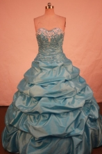 Beautiful Ball gown Sweetheart-neck Floor-length Quinceanera Dresses Style FA-W-328