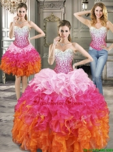 Beautiful Beaded and Ruffled Detachable Quinceanera Dresses in Multi Color YYPJ014CX003FOR