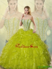 Beautiful Beading and Ruffles Detachable  Sweetheart Quinceanera Gowns SJQDDT186002-9FOR