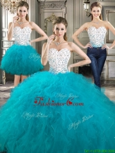 Beautiful Really Puffy Detachable Sweet 16 Dresses with Beading and Ruffles YYPJ023CX003FOR