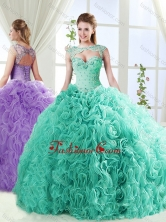 Big Puffy Brush Train Detachable Sweet 16 Dresses with Beading and Appliques SJQDDT560002FOR