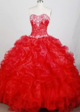 Classical Ball Gown Sweetheart Neck Floor-length Quinceanera Dress LZ42617