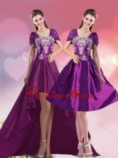 Detachable Elegant High Low Embroidery Quinceanera Gown for 2015 QDZY258TZFOR