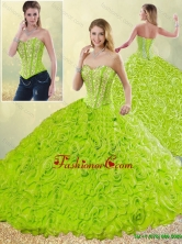 Detachable Modest Rolling Flowers Quinceanera Gowns with Sweetheart SJQDDT196002-1FOR