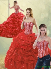 Detachable Perfect Sweetheart Quinceanera Dresses with Beading and Pick Ups SJQDDT192002-1FOR