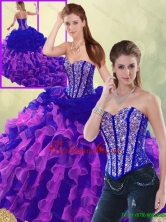 Detachable Summer Exclusive Multi Color Brush Train Quinceanera Dresses SJQDDT193002-5FOR