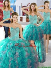 Discount Organza Detachable Quinceanera Dresses with Beading and Ruffles YYPJ013CX004FOR
