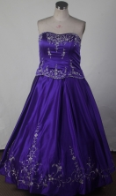 Exclusive Ball Gown Strapless Floor-length Quinceanera Dress LZ42602