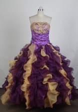Exclusive Ball Gown Strapless Floor-length Quinceanera Dress LZ42610