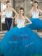 Exclusive Beaded and Ruffled Detachable Quinceanera Dresses in Blue and White YYPJ024CX003FOR