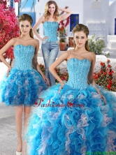 Exquisite Baby Blue and White Detachable Sweet 16 Dresses with Beading and Ruffles YYPJ009CX003FOR