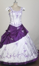 Exquisite Ball Gown Square Neck Floor-length Quinceanera Dress LZ42604