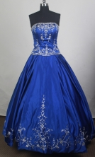 Exquisite Ball Gown Strapless Floor-length Quinceanera Dress LZ426