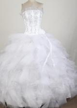 Exquisite Ball Gown Strapless Floor-length Quinceanera Dress LZ42606