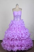 Exquisite Ball Gown Sweetheart Neck Floor-length Quinceanera Dress LZ42608