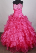 Exquisite Ball Gown Sweetheart   Neck Floor-length Quinceanera Dress LZ42619