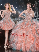 Fashionable Ball Gown Sweetheart Detachable Sweet 16 Gowns for Fall QDDTA99001FOR