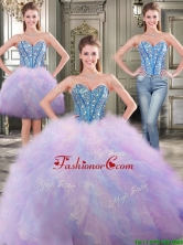 Fashionable Beaded and Ruffled Detachable Quinceanera Dresses in Rainbow YYPJ018CX003FOR