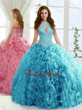 Fashionable Halter Top Detachable Sweet 16 Dresses with Beading and AppliquesSJQDDT558002FOR