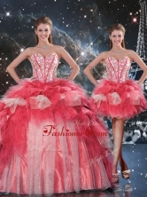 Fashionable Puffy Sweetheart Detachable Beading Quinceanera Gowns for Winter QDDTA101001FOR