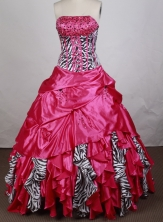 Gorgeous Ball Gown Strapless Floor  -length Quinceanera Dress LZ426