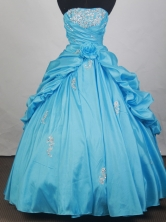 Gorgeous Ball Gown Strapless Floor  -length Quinceanera Dress LZ42618