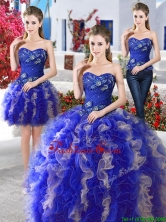 Hot Sale Really Puffy Organza Detachable Sweet 16 Dresses with Appliques and Ruffles YYPJ007CX003FOR