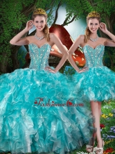 Hot Sale Sweetheart Detachable Quinceanera Dresses with Beading for Summer QDDTA79001FOR