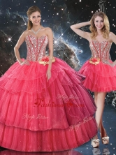 Lovely Sweetheart Detachable Quinceanera Dresses with Beading for Fall QDDTA105001FOR