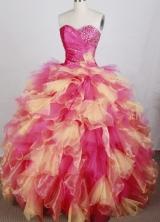 Luxurious Ball Gown Sweetheart Neck Floor-length Quinceanera Dress LZ42614