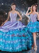 Luxurious Sweetheart Detachable Quinceanera Dresses with Beading and Ruffled Layers QDDTA94001FOR