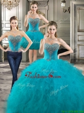 Perfect Beaded and Ruffled Detachable Quinceanera Dresses in Teal YYPJ021CX003FOR