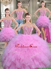 Popular Big Puffy Blue Detachable Tulle Quinceanera Dresses with Beading and Ruffled Layers YYPJ017CX003FOR