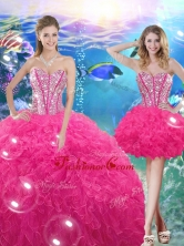 Pretty Ball Gown Sweetheart Detachable Quinceanera Dresses with Beading QDDTA76001FOR