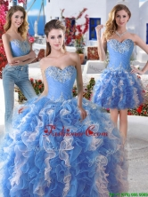 Pretty Blue and White Organza Detachable Sweet 16 Dresses with Appliques and Ruffles YYPJ006CX003FOR