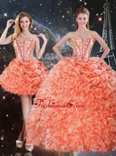 Pretty Detachable Sweetheart Beading and Ruffles Quinceanera Dresses QDDTA96001FOR