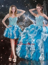 Pretty Sweetheart Multi Color Detachable Sweet 16 Dresses with Beading QDDTA104001FOR