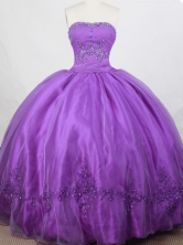 Romantic Ball Gown Strapless Floor-length Quinceanera Dress LZ42616