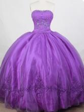 Romantic Ball Gown Strapless Floor-length Quinceanera Dress LZ42616