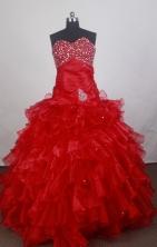 Romantic Ball Gown Sweetheart Neck Floor-length Quinceanera Dress LZ42609